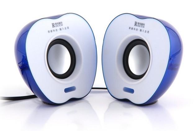 电脑小音箱 usb音箱 苹果型音箱 带灯 g124